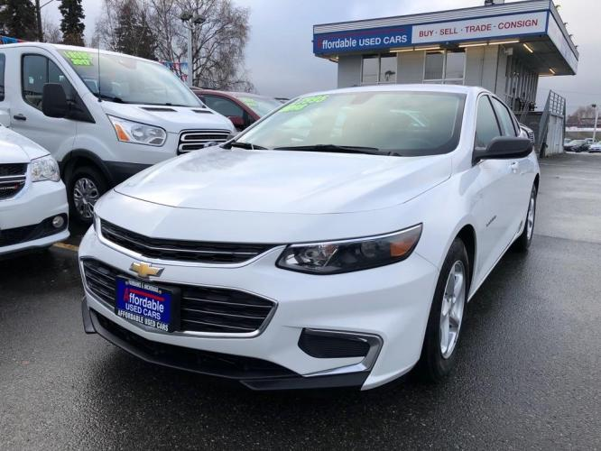 2018 WHITE CHEVROLET MALIBU LS (1G1ZB5ST0JF) with an 1.5L engine, Automatic transmission, located at 929 East 8th Ave, Anchorage, 99501, (907) 274-2277, 61.214783, -149.866074 - Photo #0