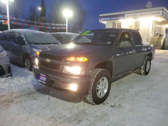2012 GREEN CHEVROLET COLORADO LT LT (1GCHTCFEXC8) with an 3.7L engine, Automatic transmission, located at 929 East 8th Ave, Anchorage, 99501, (907) 274-2277, 61.214783, -149.866074 - Photo #0